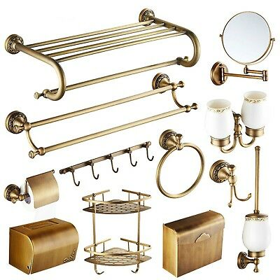 Bathroom Accessories Bronze Antique Brass Sets Solid Carved Product Hardware