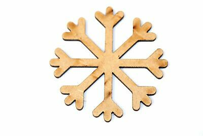 Wooden MDF Snowflakes Decorations Shape Bunting Craft Embellishments Blank Decor