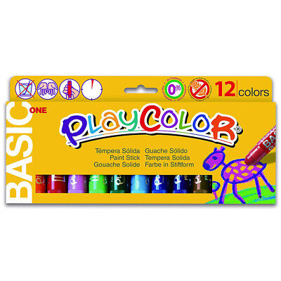 Playcolor Standard One 12 Pack Kids Poster Paint Sticks