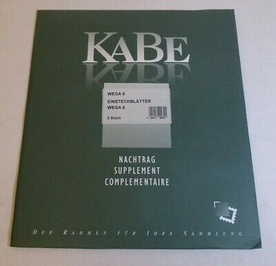 Kabe Vega Stamp Album stock pages double sided -16 hole 27.5 x 30cm pack of 5