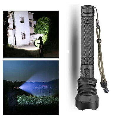 350000 Lumens Zoomable XHP70 LED USB Rechargeable Flashlight Torch Super Bright