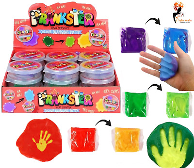 COLOUR CHANGING PUTTY TUBS Heat Sensitive Slime Colourful Goo Gift HBN14305