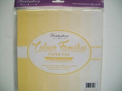 Hunkydory Crafts Colour Families Paper Pad 8x8 Paper COLOURPAD127 Turquoise