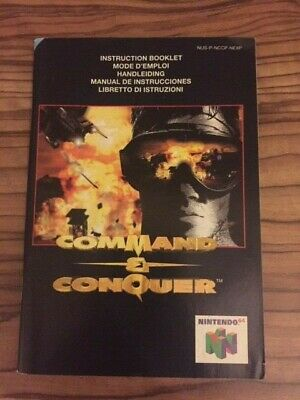 Command & Conquer Nintendo 64 N64 Manual Instruction Booklet