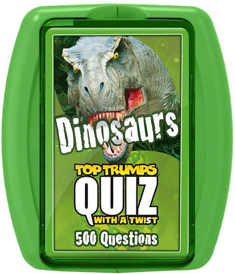 NEW Top Trumps DINOSAURS playing cards animal data card game t rex