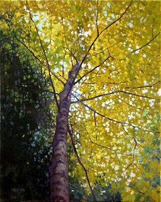"""Look Way Up"" - Original Oil Painting by Canadian Artist Chris Morton"