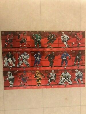 2019-20 Upper Deck Tim Hortons Red Die Cut Hockey Cards DCSP1