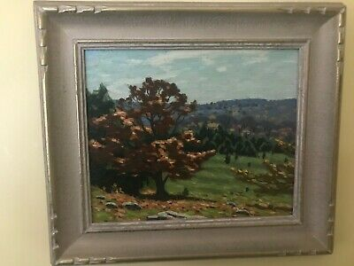 """An Old Beech"" - Original Oil Painting by Canadian Artist George Thomson b 1868"