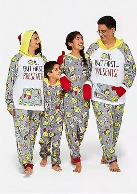 Justice Unisex 18/20 Plus Holiday Christmas Emoji Pajama One Piece Pjs