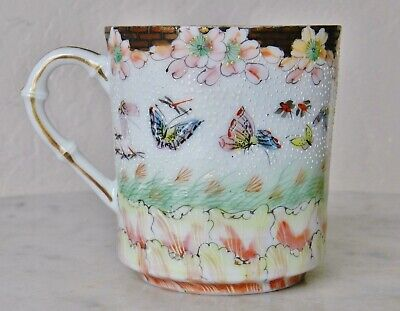 Antique 19th Century Chinese EGGSHELL Porcelain Tea Cup Qing