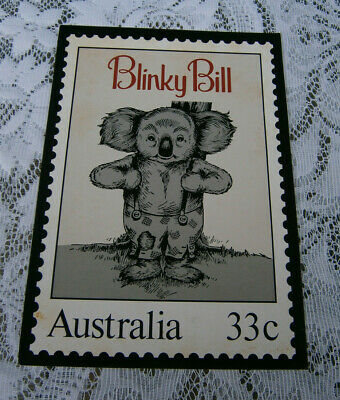 A4 Size Cardboard Picture of Blinky Bill with a 33c Stamp - Australia
