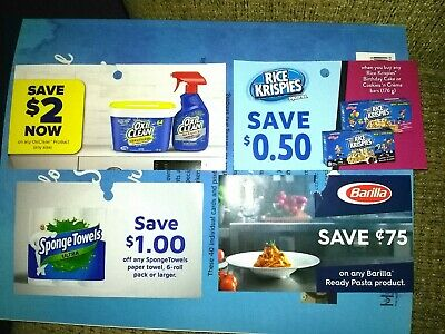 *Barilla ,Rice Krispies, Oxi Clean, Sponge Towel Coupons + Bonus Coupons*