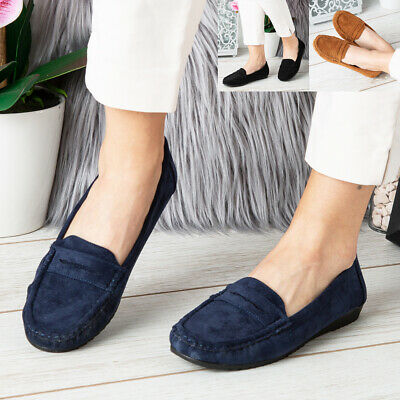 Womens Shoes Ladies Flats Loafers Pumps Slip On Comfy Work Office School Size