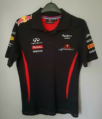 PEPE JEANS Teamline Official Red Bull Racing MEN'S Polo Shirt Size S