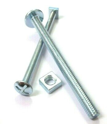 Roofing bolts with nuts. Zinc. M6 & M8. 120mm Long. Fixing. Roof. *Top Quality!