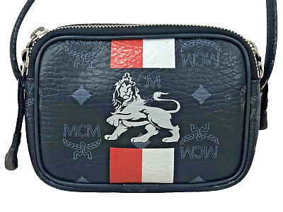ORIGINAL MCM MINI Crossbody Crossbag Visetos Lion schwarz