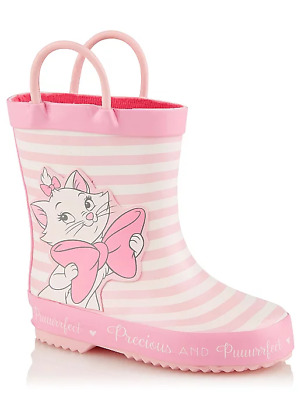 Disney Girls The Aristocats Marie Pink Wellington Boots Wellies Sizes 3 to 9 NEW