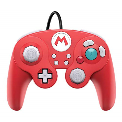 Nintendo Switch Super Mario Bros Mario GameCube Style Wired Fight Pad Pro by