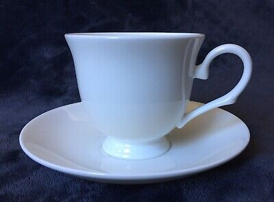 Lenox Classic White Bone China Footed Tea Coffee Cup And Saucer