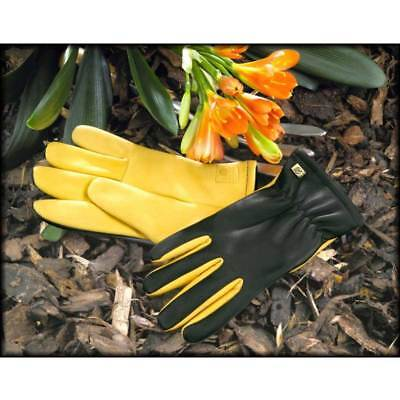 Gold Leaf Dry Touch Gloves LADIES FIT.  Womens Leather Gardening Gloves