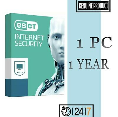 Eset Internet Security 1 PC Device 1 year License key 2019 - Download