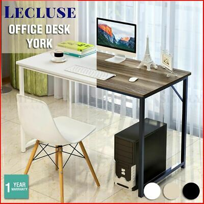 Lecluse Study Desk Office Table Writing Computer Decor Wooden Metal Children Kid
