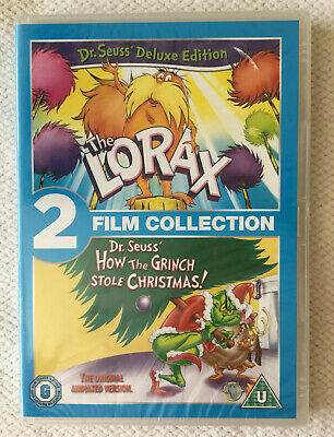 The Lorax/How The Grinch Stole Christmas~Double Pack~Reg.2.DVD.~New~Freepost