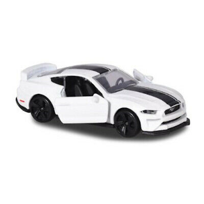 Ford Mustang GT White Majorette Premium Cars 2019 204C 1:64 3-inch Toy Car