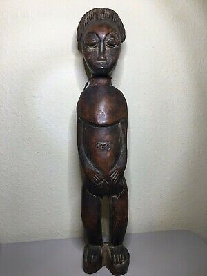 Antique Dogon Statue Wood Carving Early 1900'S