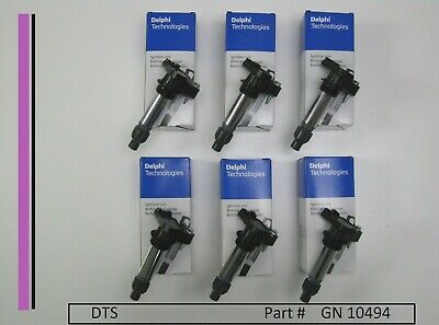 New set of SIX Delphi Coils GN10494, D515C,12590990,12632479,D597A