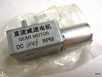 DC 12V 6RPM Worm Gear Motor 6mm Female Shaft High Torque Turbine Reducer