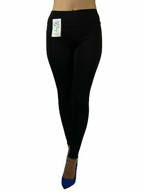 Damen Thermo Leggins Warm Winter Dick Gefuttert Slim Look Hoch Bund Gr 34-38