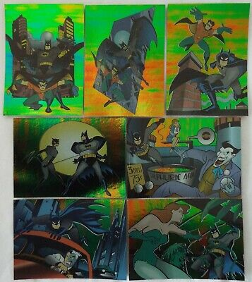 Skybox ADVENTURES of BATMAN & ROBIN Foil Chase Cards 1995 Lot of 7 Different