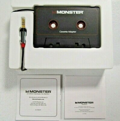Monster 3.5mm AUX to Cassette Adapter with 3ft Cable