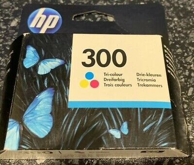 Original Hp 300 Colour Ink Cartridge Sealed Packaging, Out Of Date