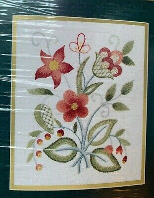Elsa Williams Lowell Sampler Crewel Embroidery Kit Designed By Louise Chrimes