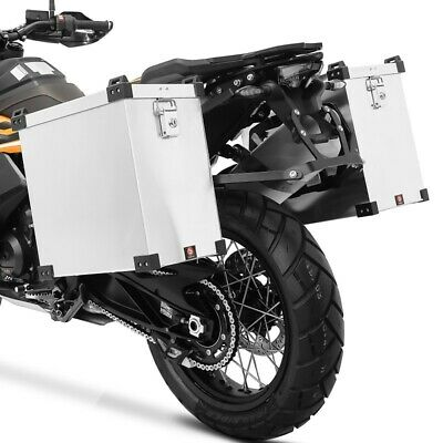 Aluminium cases + Supports 16mm for BMW R 1200 GS / Adventure
