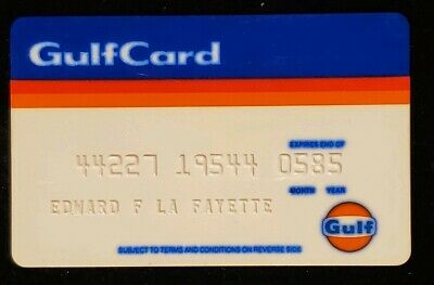 GulfCard Gulf Oil Charge Card♡Free Shipping♡cc83