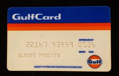 GulfCard Gulf Oil Charge Card♡Free Shipping♡cc84