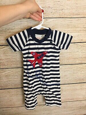 jojo maman bebe Size 0-3 Months One Piece Romper Airplane/Buttons