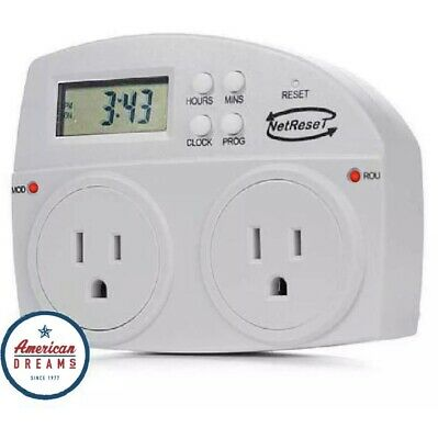 LOW COST NETRESET-Digital Timer Outlet/Automatic Modem & Router Reboot FREE SHIP
