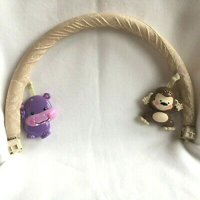 Fisher Price Safari Jumperoo Toy Bar Replacement Part Monkey Hippo