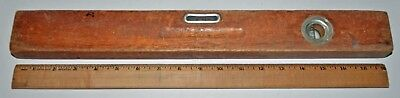 VINTAGE Wooden Bubble Level Old Carpenter's Tool 18 Inch Unknown Maker Man Cave