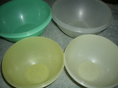 Tupperware Set of 4 Wonderlier Bowls without Seals