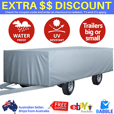 14ft 15ft 16ft Pop Top Camper Caravan Trailer Cover Travel Swan 4.2m – 4.8m Grey
