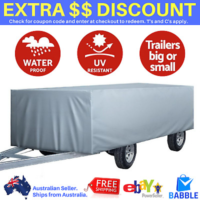 12ft 13ft 14ft Pop Top Camper Caravan Trailer Cover Travel Swan 3.6m – 4.2m Grey
