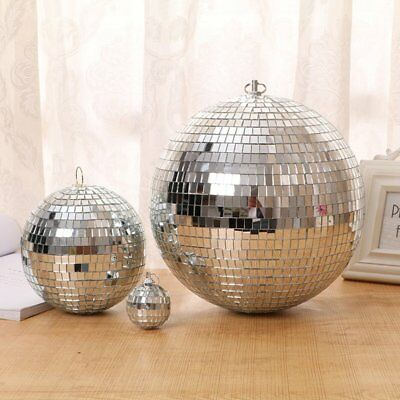 Large Mirror Glass Disco Ball DJ Dance Home Party Bands Club Stage Lighting 6w
