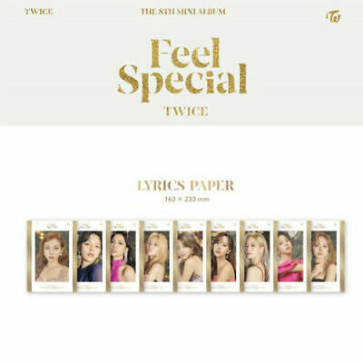 TWICE Feel Special 8th Mini Album [Lyrics Paper]
