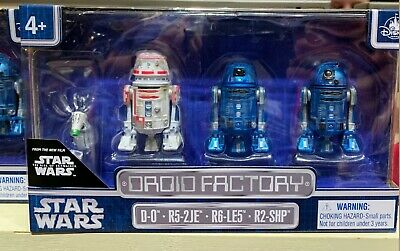 Star Wars Disney Droid Factory 4 Pack Rise Of Skywalker D-0 R2-SHP R6-LE5 R5-2JE