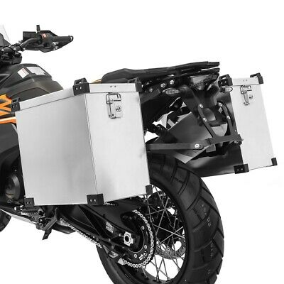 Aluminium cases 40l + Supports 18mm for BMW R 1250 R / RS
